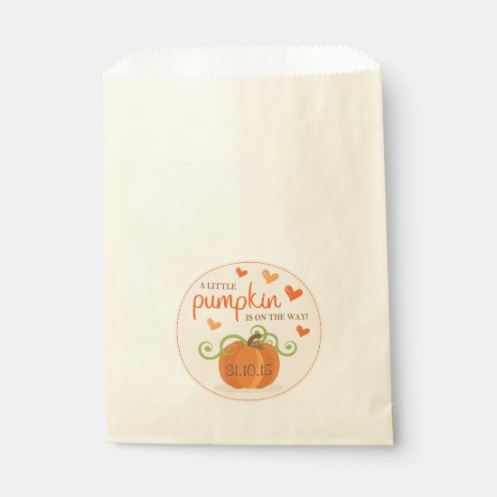 Cute Little Pumpkin Baby Shower Favor Bags