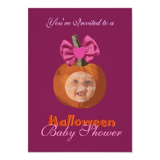 cute little pumpkin baby shower invitations zazzle