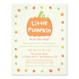 Cute Little Pumpkin Baby Shower Invitations