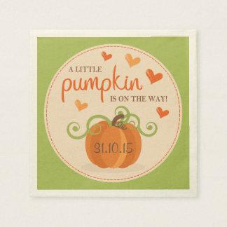 Cute Little Pumpkin Baby Shower Napkins
