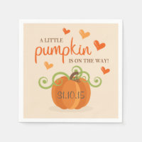 Cute Little Pumpkin Baby Shower Napkins