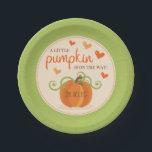 "Cute Little Pumpkin Baby Shower Paper Plates<br><div class=""desc"">Cute Little Pumpkin Baby Shower Paper Plates.</div>"