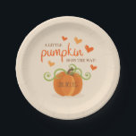 "Cute Little Pumpkin Baby Shower Paper Plates<br><div class=""desc"">Cute Little Pumpkin Baby Shower Paper Plates.</div>"