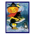 Cute Little Pumpkin Vintage Postcard