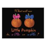 Cute Little Pumpkins Baby Gender Reveal Invite