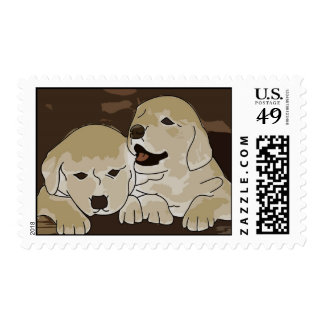Cute Little Puppies Postage Stamps