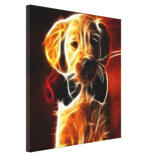 Cute Little Puppy Gallery Wrapped Canvas