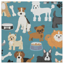 Cute Little Puppy Dog Pet Pattern Fabric
