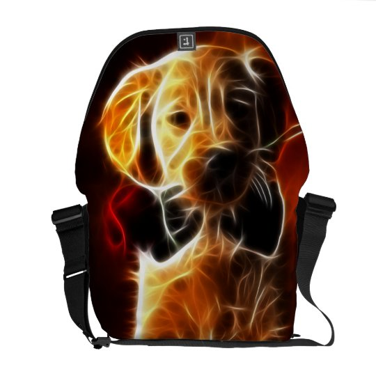 Cute Little Puppy in Love Messenger Bag