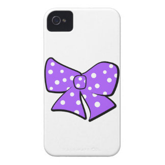 Cute Little Purple Bow Case-Mate iPhone 4 Case