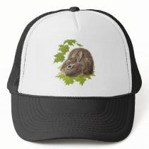 Cute Little Rabbit, Bunny, Animal Nature, Wildlife Trucker Hat