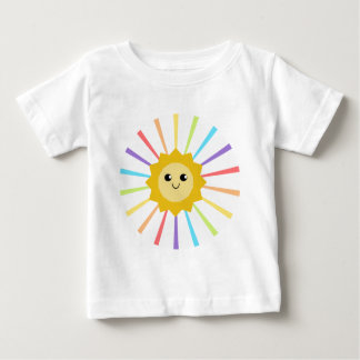 Cute Little Rainbow Sunshine Baby T-Shirt