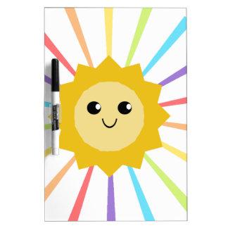 Cute Little Rainbow Sunshine Dry-Erase Board