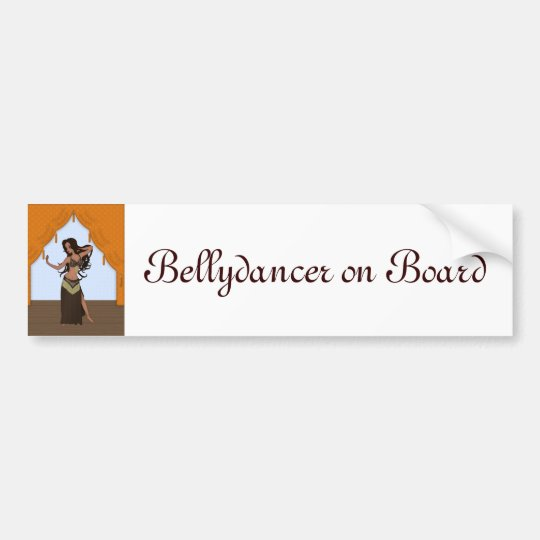 Cute Little Raqs Sharqi Bellydancer Bumper Sticker