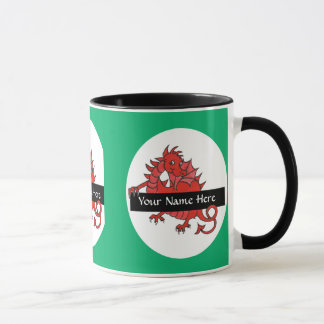 Cute Little Red Dragon Coffee Mug to Personalize