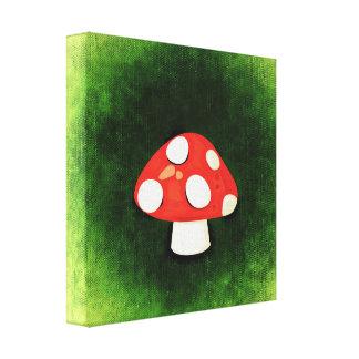 Cute Little Red Mushroom Canvas Print