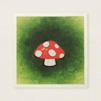 Cute Little Red Mushroom Paper Napkin