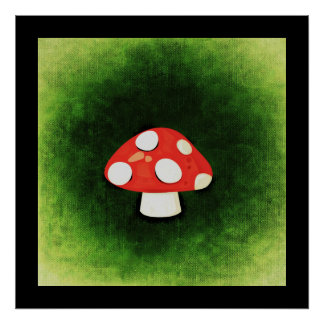 Cute Little Red Mushroom Poster