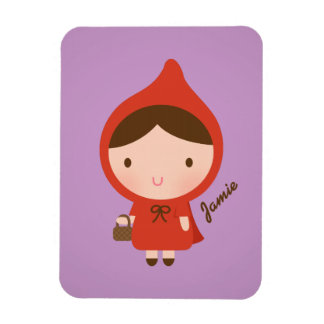 Cute Little Red Riding Hood Fairytale for Girls Magnet