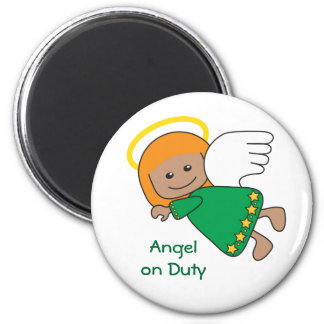 Cute Little Redhead Flying Angel Magnet