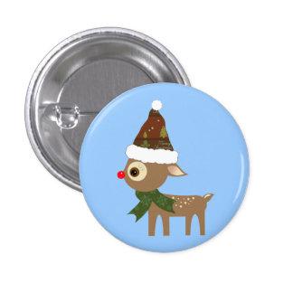 Cute Little Reindeer Button