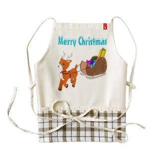 Cute Little Reindeer Christmas Zazzle HEART Apron
