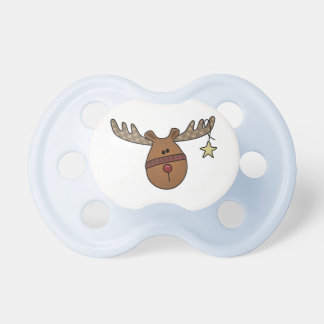 Cute Little Reindeer with a Red Nose Pacifier