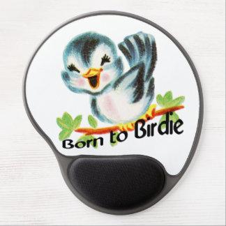 Cute Little Retro Bird Born to Birdie Golfers Gift Gel Mouse Pad