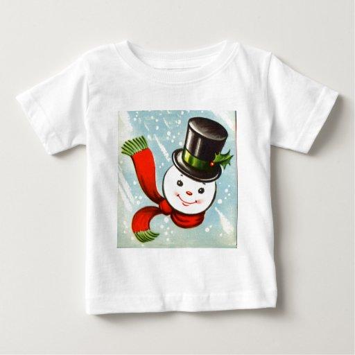 Cute Little Retro Snowman T Shirt