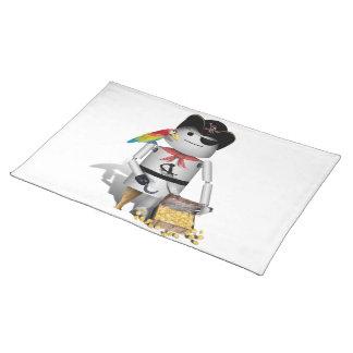Cute Little Robot Pirate - Capt n Robo-x9 Placemats