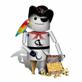 Cute Little Robot Pirate - Capt'n Robo-x9 Statuette