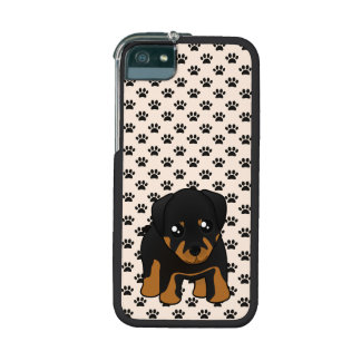 Cute Little Rottweiler Puppy Dog Cartoon Animal Case For iPhone 5