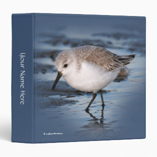Cute Little Sanderling at the Beach Binder