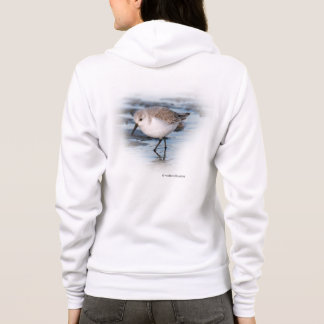 Cute Little Sanderling at the Beach Hoodie