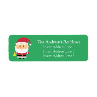Cute Little Santa Claus Christmas Label