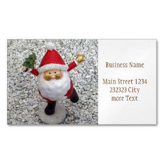 Cute little Santa Magnetic Business Card