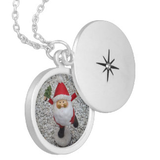Cute little Santa Silver Plated Necklace