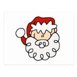 Cute little Santa Stick Figure Face Postcard