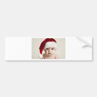 Cute Little Santa With Blue Eyes Bumper Sticker