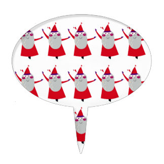 Cute little Santas Red Cake Topper