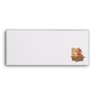 cute little secretary teddy bear design envelope