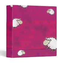 cute little sheep 3 ring binder