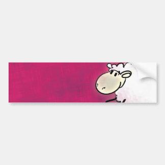 cute little sheep bumper sticker