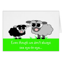 Cute Little Sheep Mother's Day Card