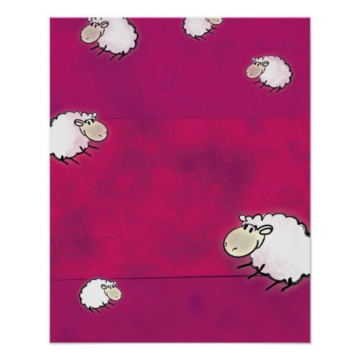 cute little sheep posters