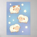 Cute Little Sheep Ram Poster