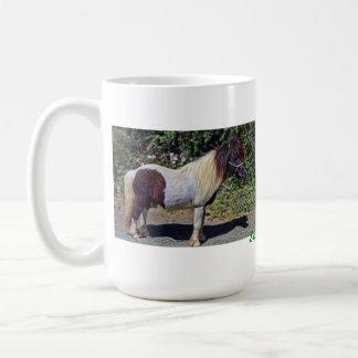 Cute little Shetland pony, on a mug