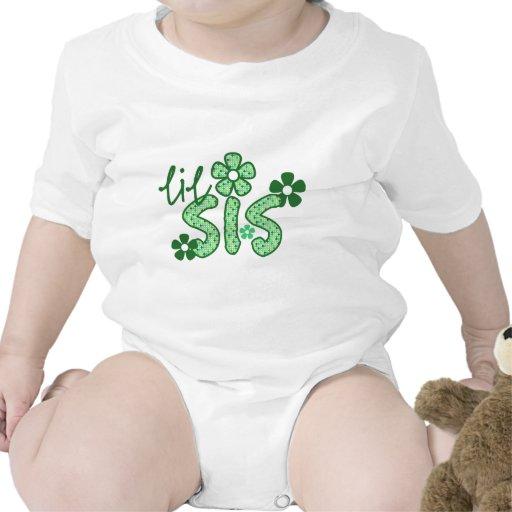 Cute Little Sis Flower Design Tee Shirts