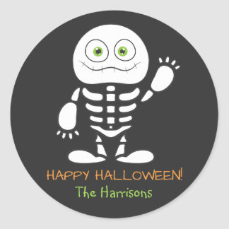Cute Little Skeleton Personalized Sticker