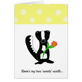 Cute Little Skunk Card